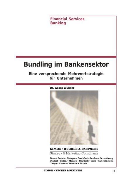 Bundling Im Bankensektor Simon Kucher Partners