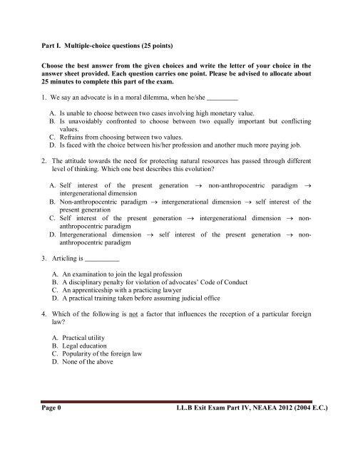 Part IV - Ethiopian Legal Brief