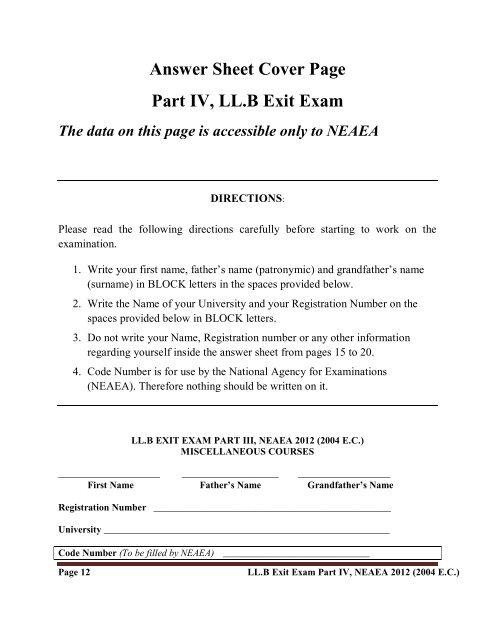Page 11 LL B Exit Exam