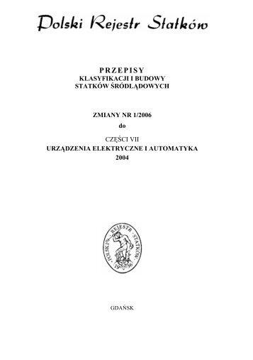 Zmiany Nr 1/2006 - PRS