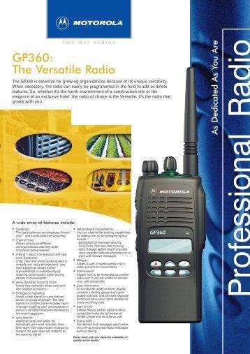 GP360: The Versatile Radio - COMTEL