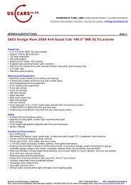 2003 Dodge Ram 2500 4x4 Quad Cab 140.5
