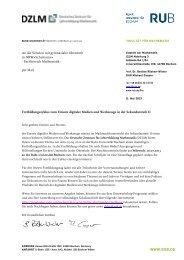 WWW.RUB.DE An die Schulen mit gymnasialer Oberstufe in NRW ...