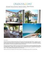 Orange Grove House, Island of Brac, Split Riviera - CroatiaGems