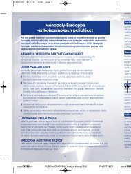 Monopoly-Eurooppa -erikoispainoksen peliohjeet - Hasbro