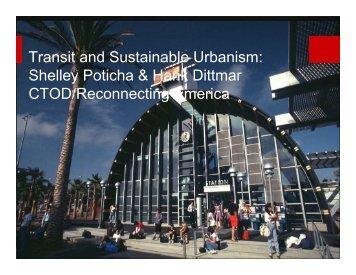 Transit and Sustainable Urbanism presentation (PDF, 3.9 MB