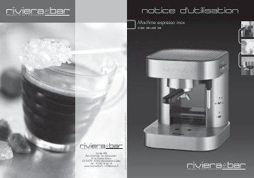 Notice d'utilisation - Machine expresso inox - CE 342 A - Riviera et Bar