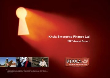 Khula Enterprise Finance Limited 2007 Annual Report