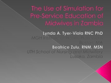 The Use of Simulation for Pre-Service Education of Midwives ... - IUPUI