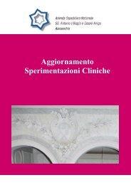 Aggiornamento Sperimentazioni Cliniche - Azienda Ospedaliera ...