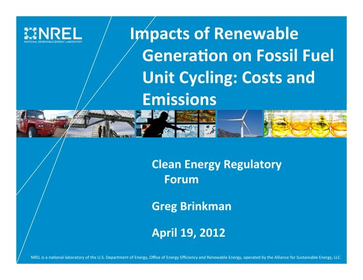 impact of fossil fuel and renewable