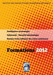 Formations 2012 - IHEDN