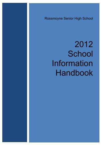 2013 School Information Handbook.pdf - Rossmoyne Senior High ...