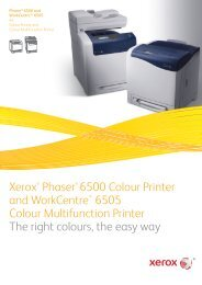 Phaser 6500 / WorkCentre 6505 Product Brochure - Xcopy