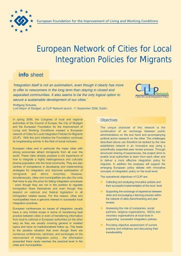 European Network of Cities for Local Integration Policies for Migrants