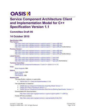 Service Component Architecture Client and Implementation Model ...