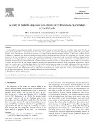 A study of particle shape and size effects on hydrodynamic ...