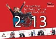 Calendario solidario por la seguridad vial 2013 - Línea Directa