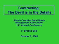 Contracting - Illinois Counties Solid Waste Management Association