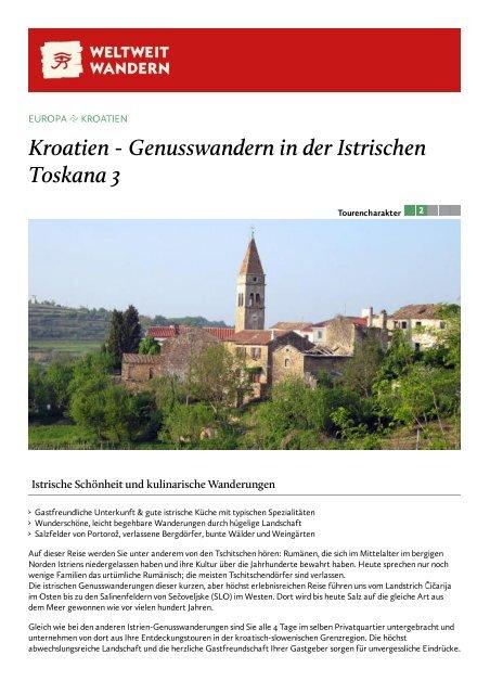 Kroatien - Genusswandern in der Istrischen ... - Weltweitwandern