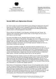 Sonder-BDK zum Afghanistan-Einsatz - Bündnis 90/Die Grünen Kiel