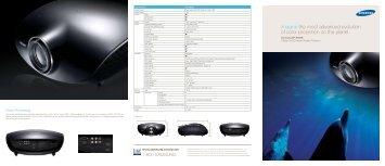 Samsung SP-A800B Brochure Spec Sheet (pdf) - CinemaQuest, Inc.