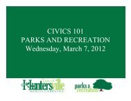 CIVICS 101 PARKS AND RECREATION Wednesday ... - Huntersville