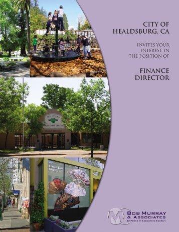 city of healdsburg, ca finance director - Bob Murray & Associates