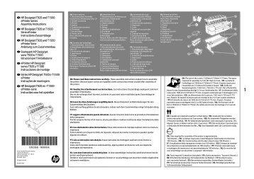 HP Designjet T920 and T1500 ePrinter Series ... - Hewlett Packard