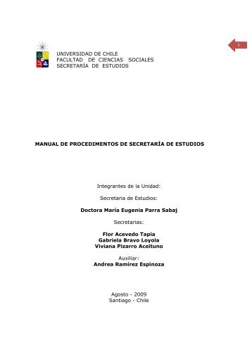 manual de procedimientos - Universidad de Chile