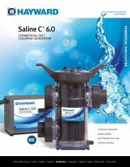 Saline C 6.0 Brochure - Hayward® Commercial Pool