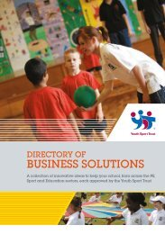 Supplier directory for primary schools - Youth Sport Trust