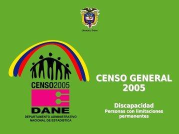 Discapacidad - Datos departamentales - Dane
