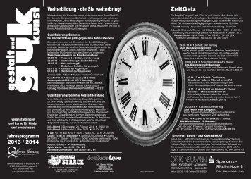 Programm 2013/2014 als PDF Download - gestalt und guk kunst ...