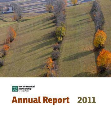 Annual Report 2011 - Romanian Environmental Partnership ...