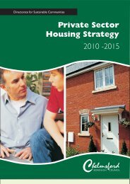 Private Sector Housing Strategy 2010-2015 - Chelmsford Borough ...