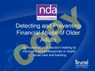 Detecting and Preventing Financial Abuse of Older Adults