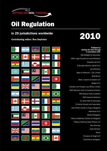 Oil Regulation 2010 - United States (PDF-708kb) - Pillsbury ...