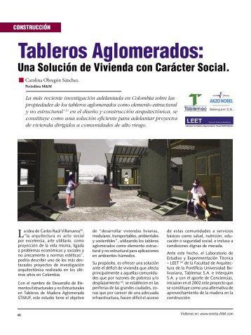 Construccion Tableros Aglomerados - Revista El Mueble y La Madera