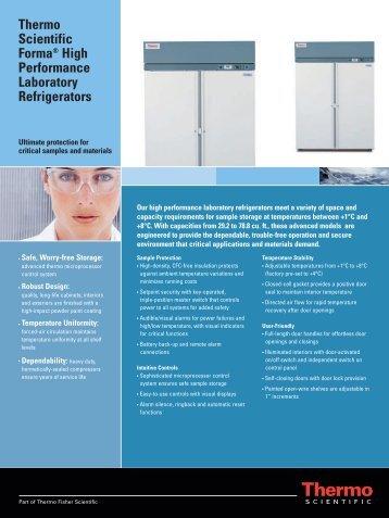 Thermo Scientific Forma® High Performance Laboratory Refrigerators