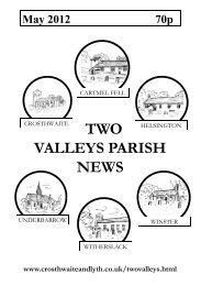 May 2012 - The Parish of Crosthwaite and Lyth