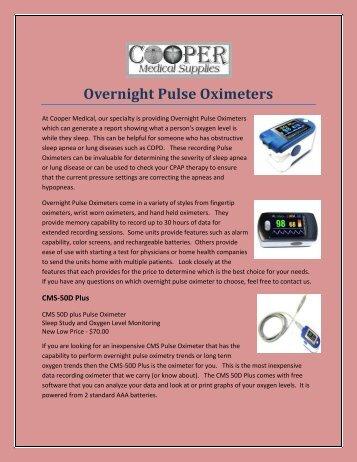 Overnight Pulse Oximeters