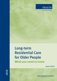 Long-term Residential Care for Older People - West Coast District ...