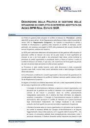 procedura 38: gestione dei conflitti di interesse - Aedes Bpm