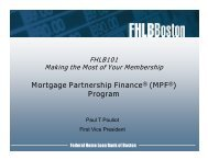 (MPF®) Program - Federal Home Loan Bank of Boston