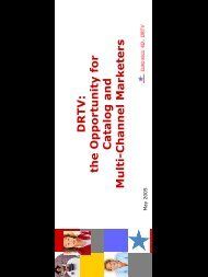 DRTV and DR Radio - Altman Dedicated Direct