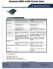 Hardware MPEG-4 DVR Capture Cards - Neugent Technologies ...