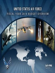 FY14 Budget Overview - Air Force Financial Management ...