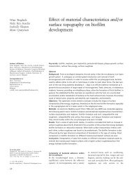 Effect of material characteristics and/or surface topography on ...