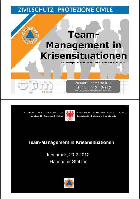 Team - die Basis